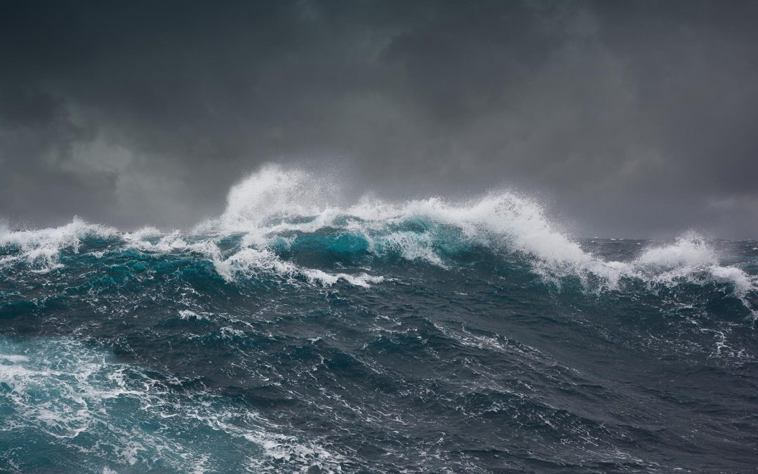 Hurricane at sea