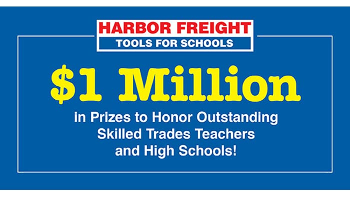 Apply Now for the 2019 Harbor Freight Tools for Schools Prize for Teaching Excellence