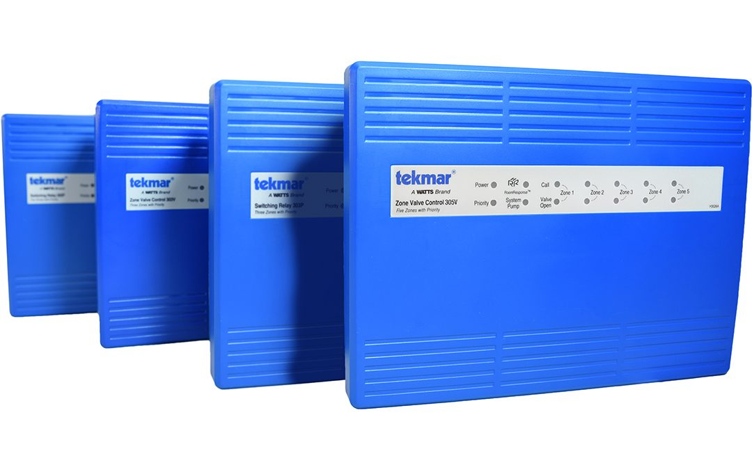 tekmar Adds Four Switching Relay & Zone Valve Control Models