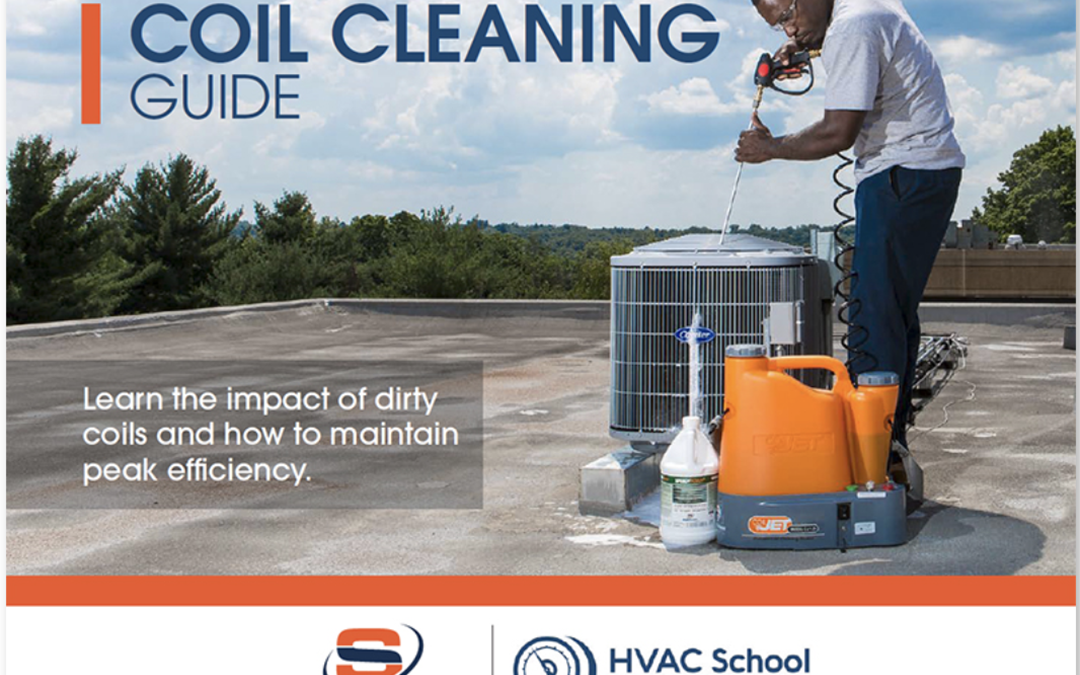 "SpeedClean and HVAC School Release Free ""Coil Cleaning Guide"" E-book to Educate Contractors on Best Practices and Real Data"