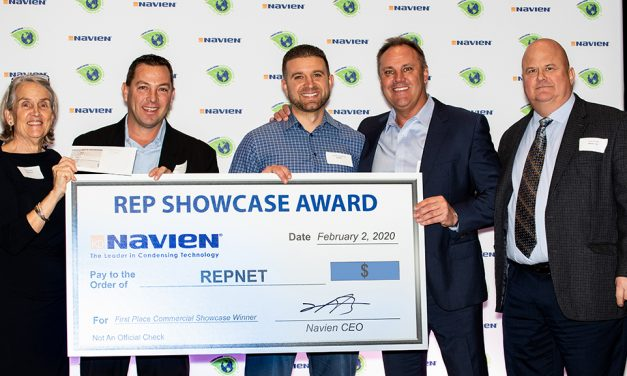 Navien Awards Reps in Orlando Before AHR 2020