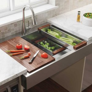 Dart Canyon farmhouse sink by Elkay is ADA compliant