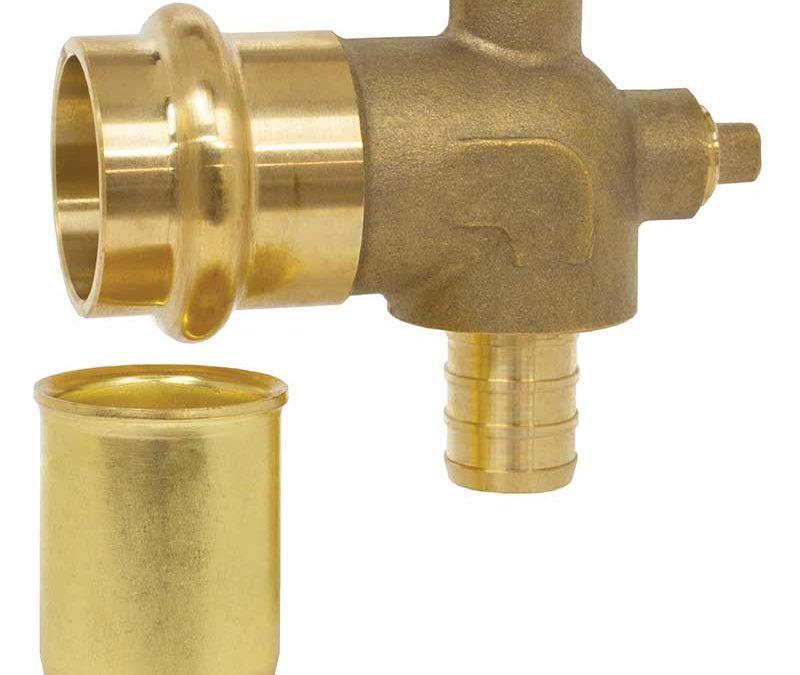 Webstone Press x PEX dual-vent elbow