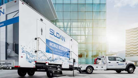 Sloan Deploys Mobile Restrooms