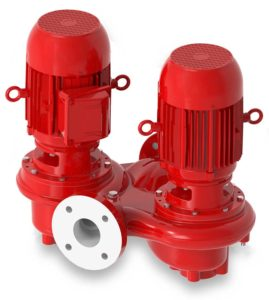 Bell & Gossett Series e-82 Twin Vertical In-Line Centrifugal Pump