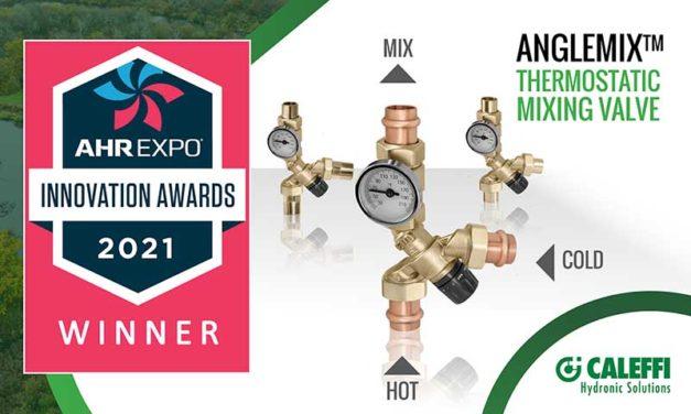 Caleffi AngleMix Valve wins Innovation Award