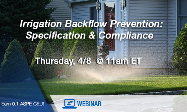 Watts Webinar on Irrigation Backflow Prevention