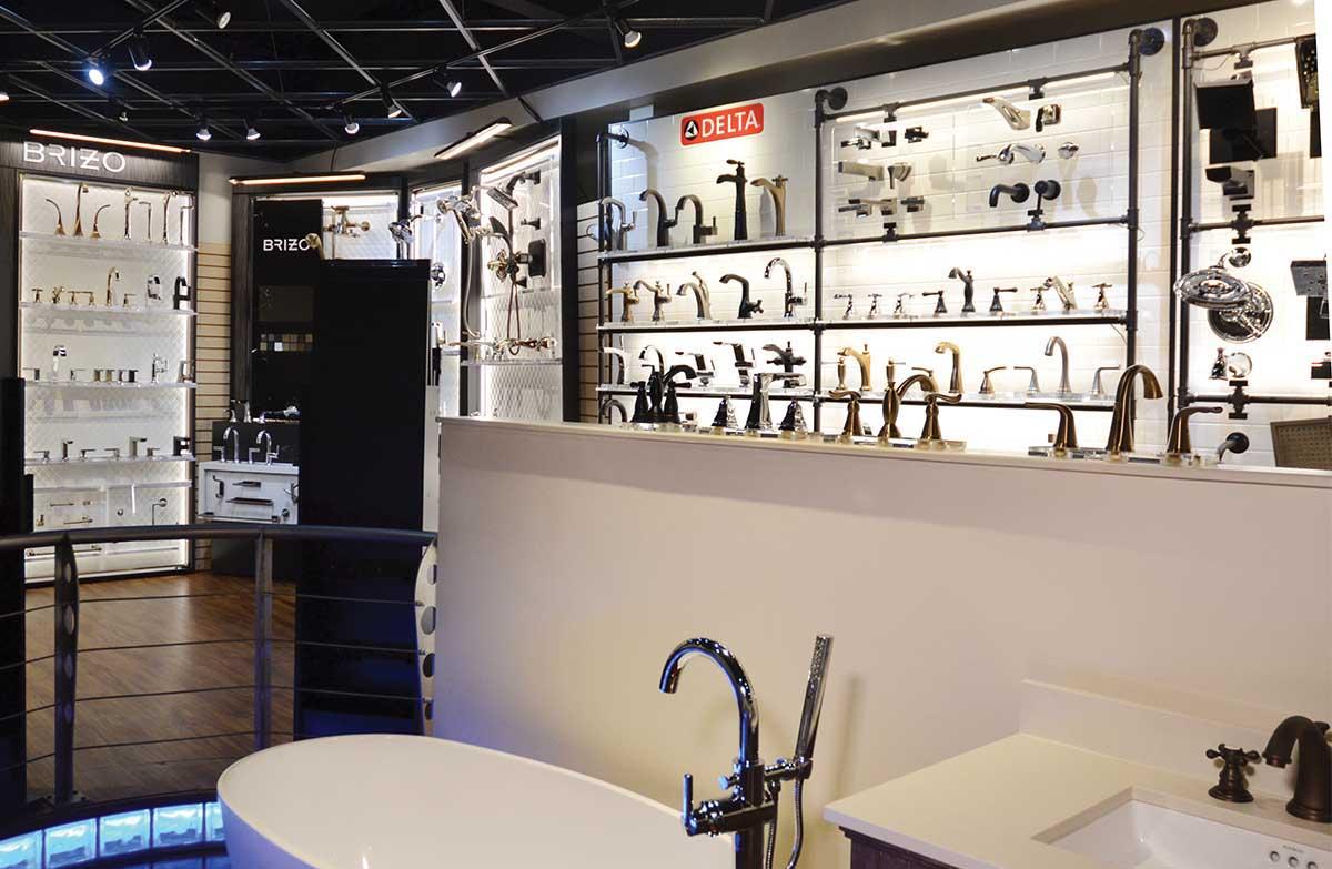 Falk Plumbing Supply showroom