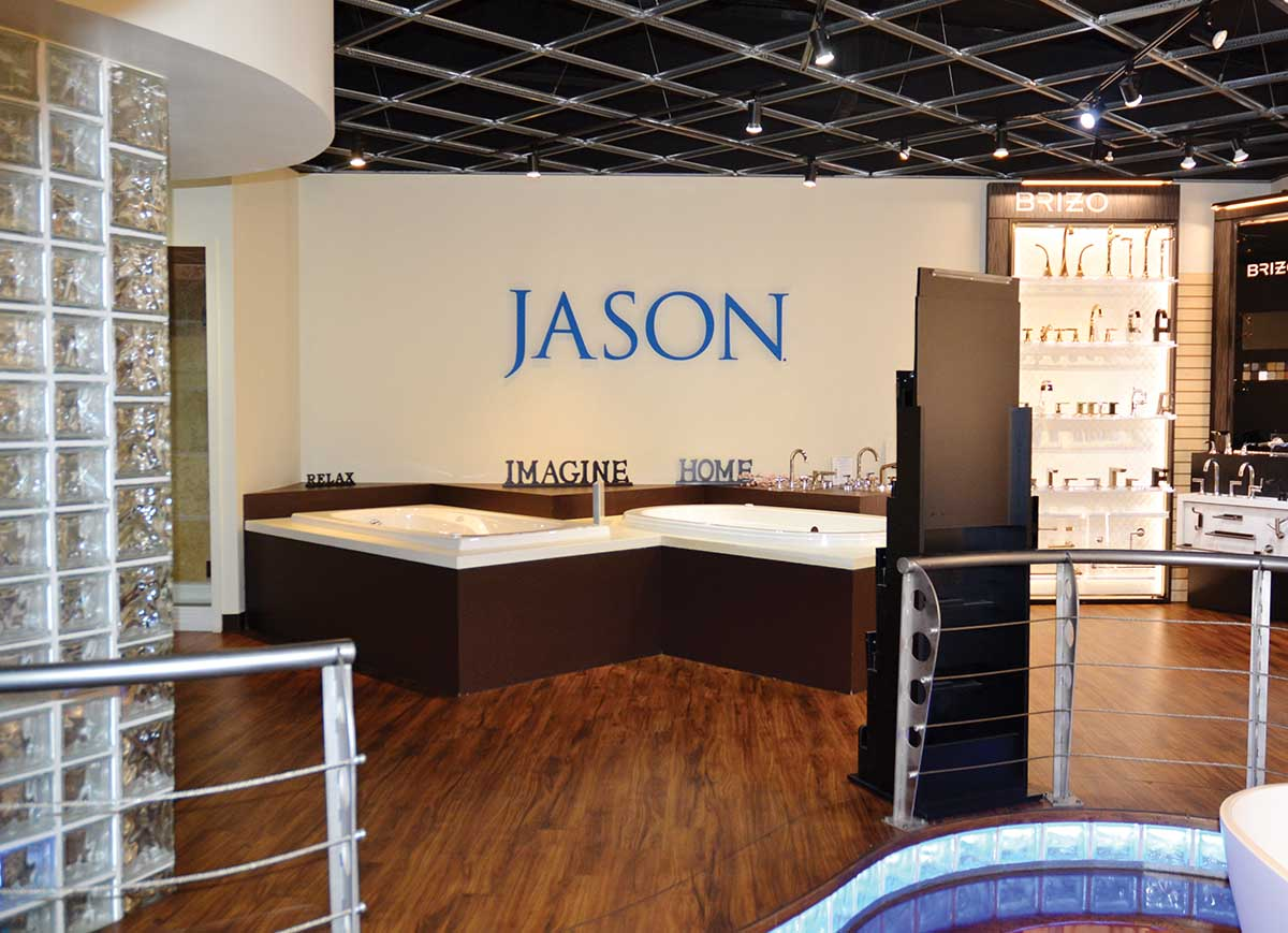 Jason display at Falk Plumbing Supply