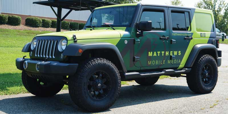 M3 wrapped Jeep