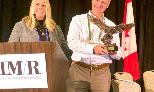Bradford White's Matt Kozak receives AIM/R Golden Eagle Award